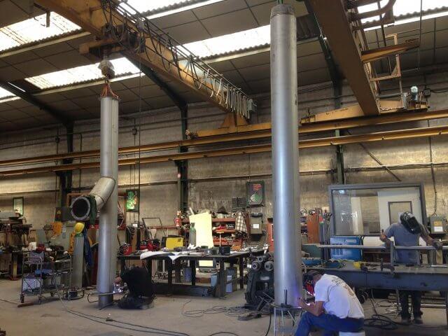Réalisation de cheminée pour chaufferie vapeur