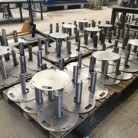 support poteau inox metallerie