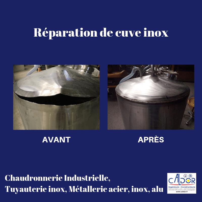 Réparation cuve inox