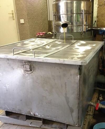 Cuve inox pour moulins à huile