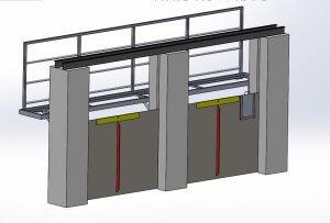 plan 3D passerelle caldor